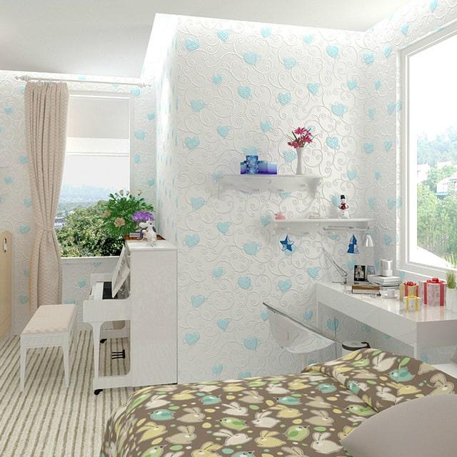 decoração com papel de parede chique
