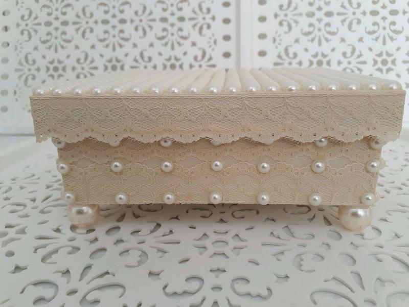 caixa decorada renda