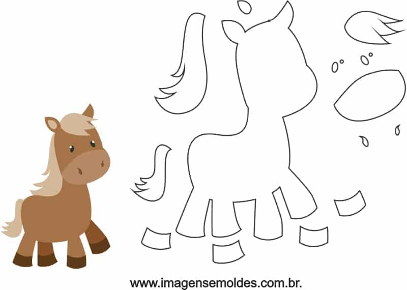fazendinha em EVA molde ponei