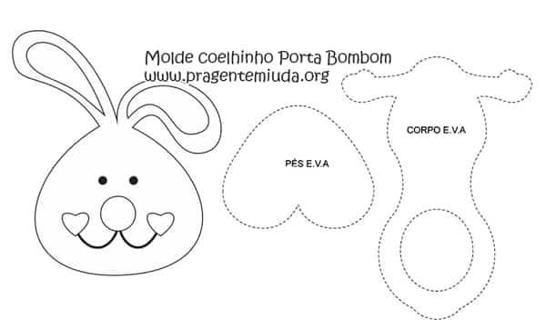 molde de coelho porta bombom
