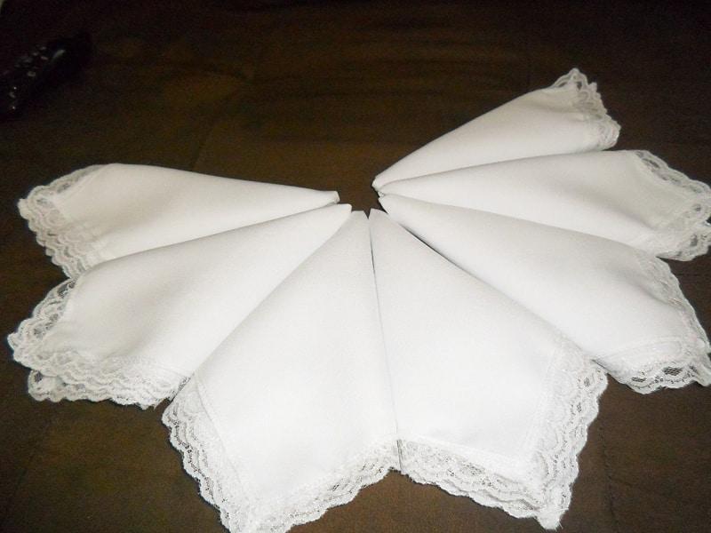 tutorial guardanapo com tecido