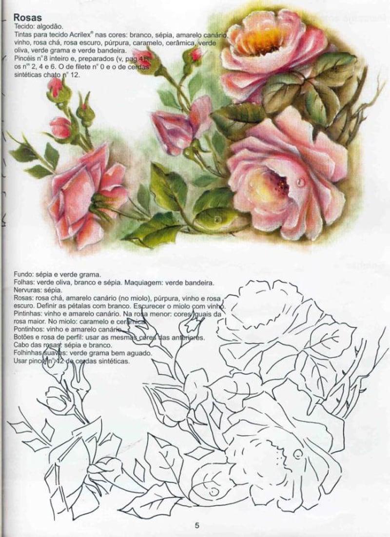 rosas pintadas com riscos