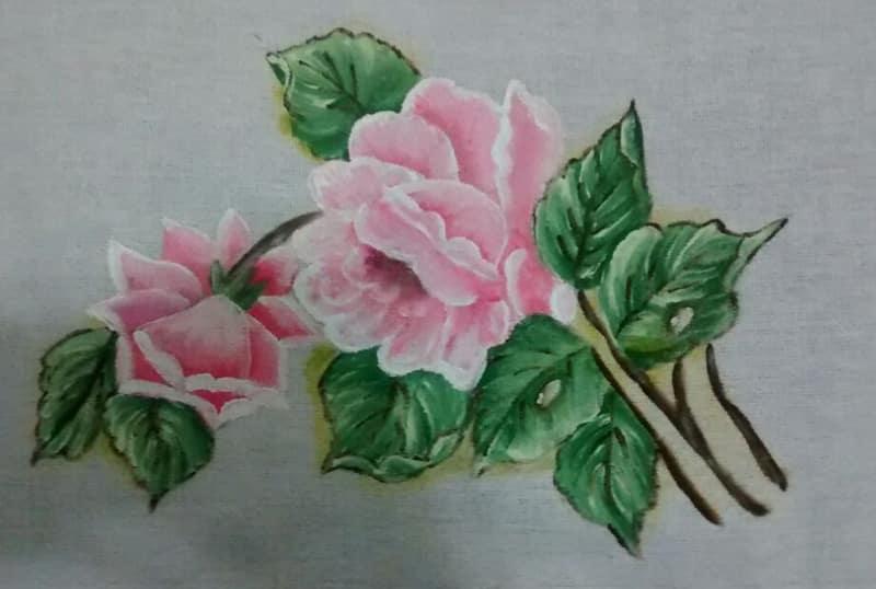rosas pintadas facil