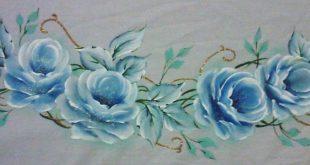 rosas pintadas azuis