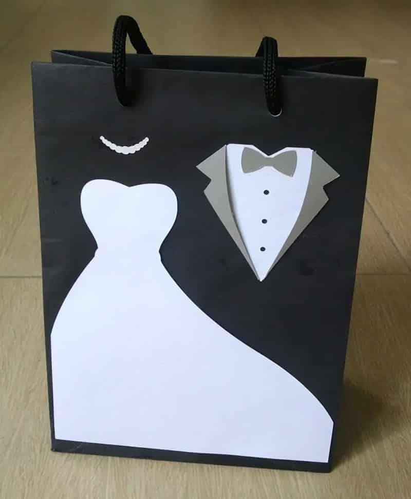 sacolinha de papel para casamento