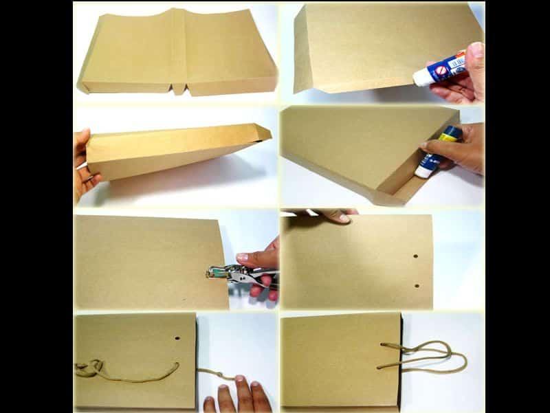 sacolinha de papel passo a passo