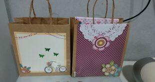 sacolinha de papel decorada