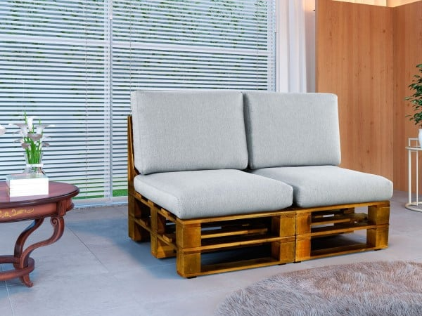 sofa de 2 lugares de palete