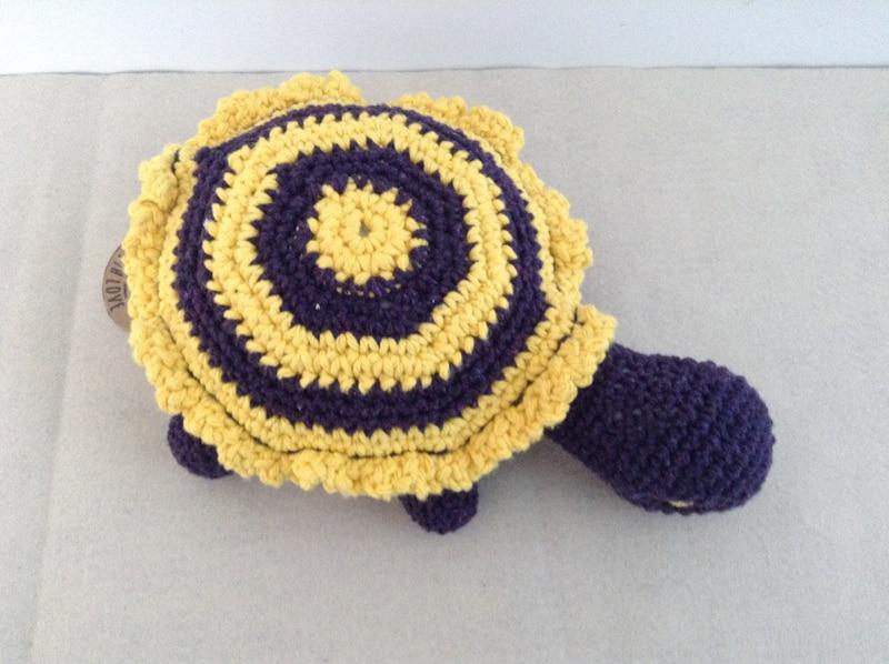 bichinho de crochê tartaruga