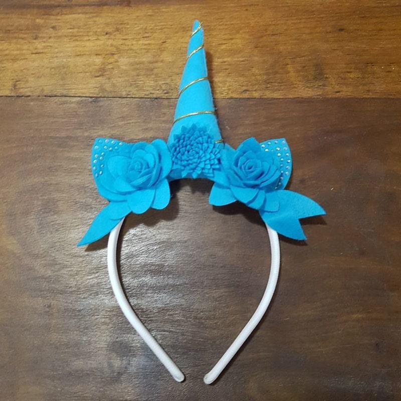 tiara unicornio azul
