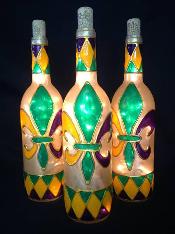 garrafa para o carnaval pintada