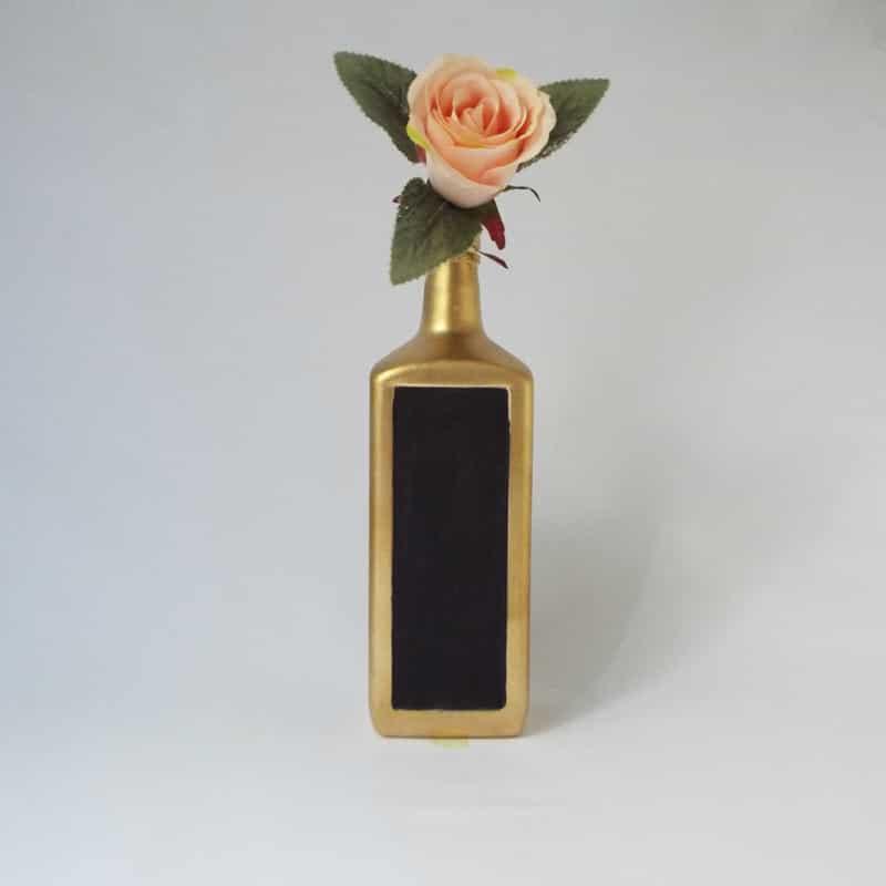 garrafa decorada com tinta lousa