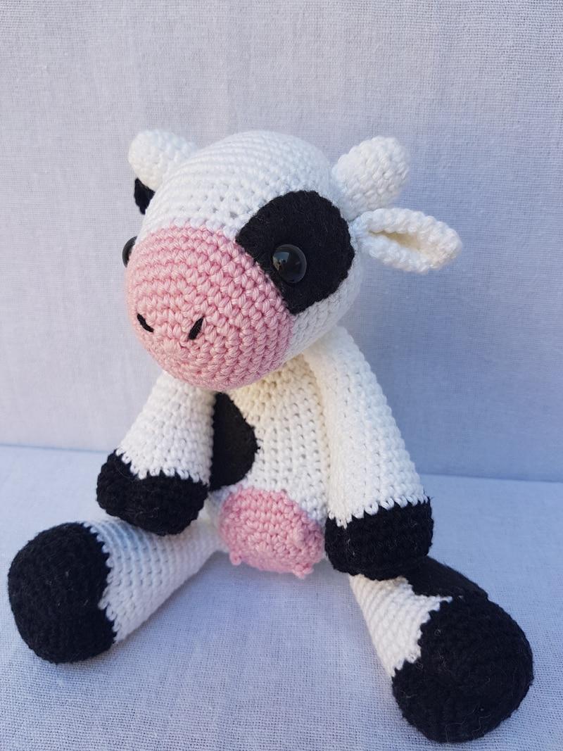 bichinho de crochê vaca
