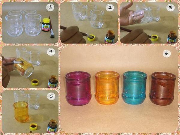 vidro fosqueado colorido