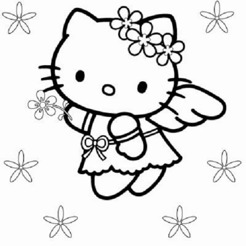 imagem de anjo hello kitty