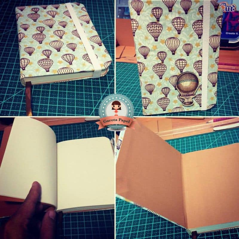 caderno decorado scrap