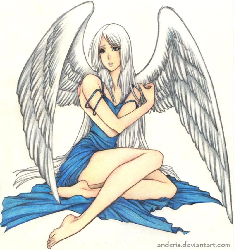 imagem de anjo colorido
