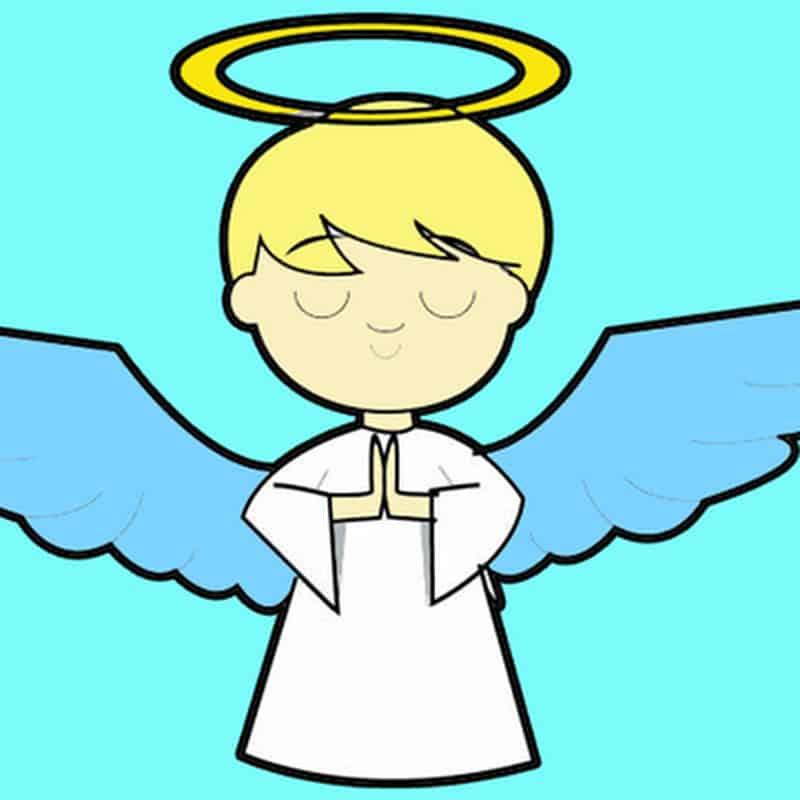 imagem de anjo com cor