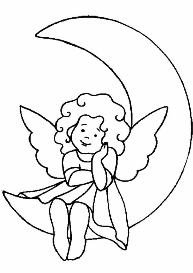 Desenho De Anjo 30 Ideias Para Imprimir Artesanato Passo