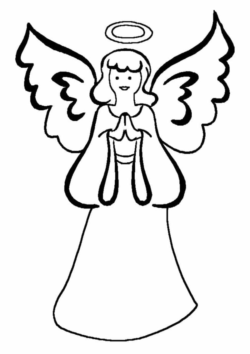Desenho De Anjo 30 Ideias Para Imprimir Artesanato Passo A Passo