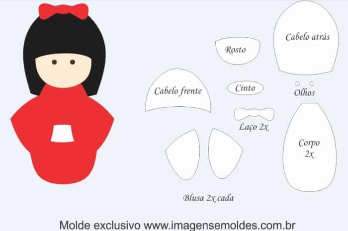Molde De Boneca De Eva 30 Ideias Criativas Artesanato Passo A