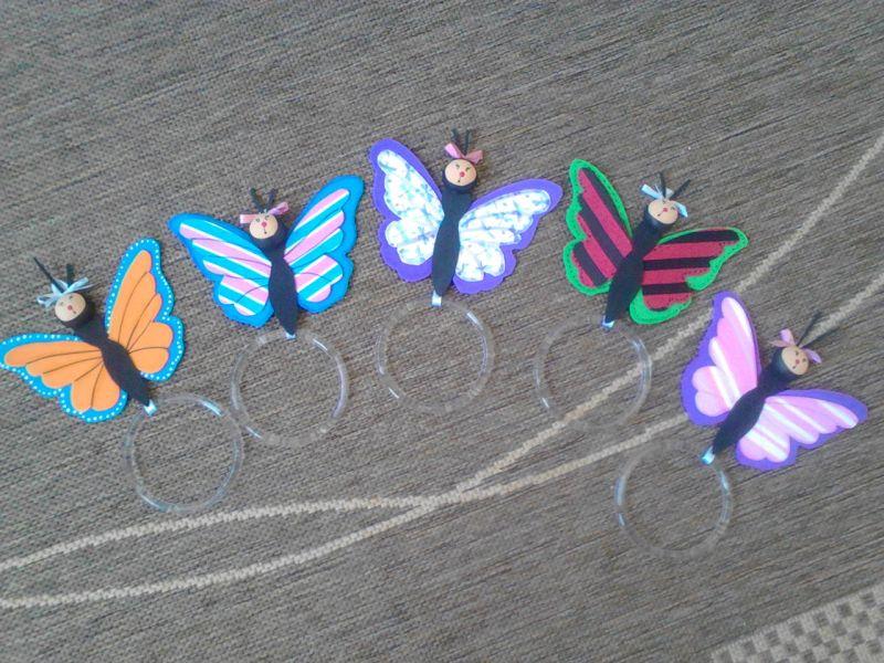 porta pano de prato eva borboletas