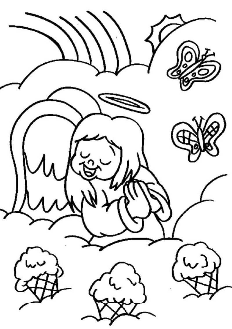 imagem de anjo com borboletas