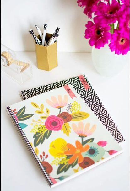 caderno decorado espiral
