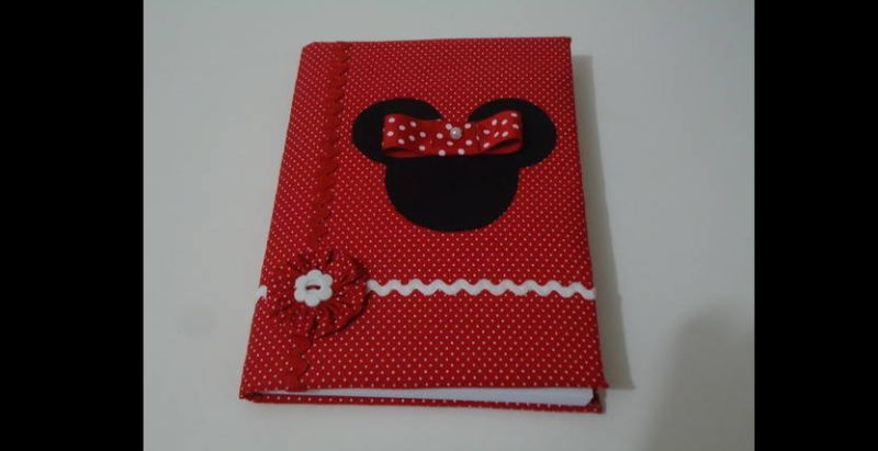 caderno decorado minnie