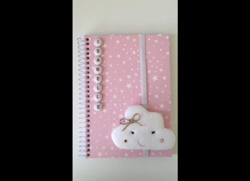 caderno decorado nuvem