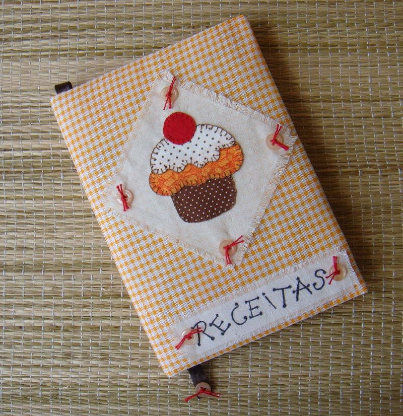 caderno decorado receitas