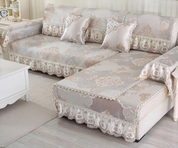 capa de sofa com renda