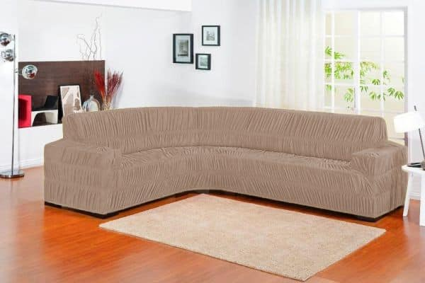 capa de sofa bege