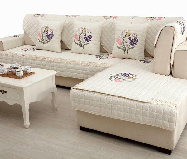 capa de sofa bordada