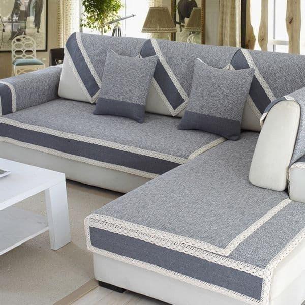 capa de sofa colorida