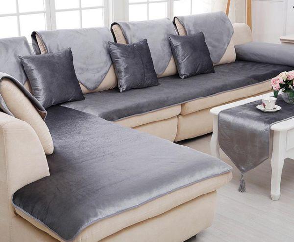 capa de sofa de cetim