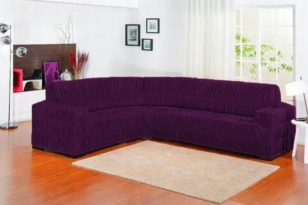 capa de sofa roxa