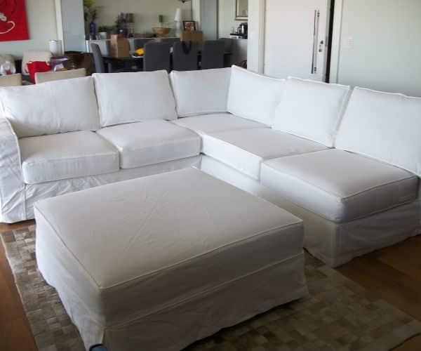 capa de sofa branca