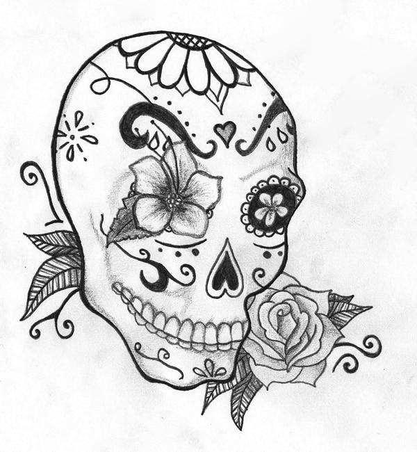 desenho de caveira masculina