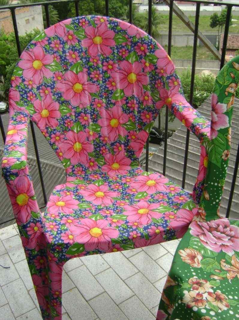 cadeiras decoradas tecido