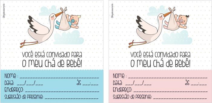 imagens de convite de cha de bebe