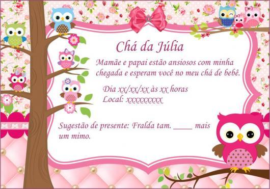 Mensagem De Convite De Cha De Fralda: Convite Chá De Bebê Menino E Menina: 70 Modelos, Editáveis