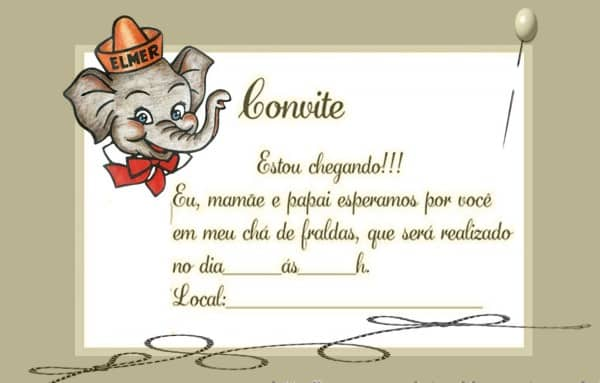 convite elefantinho