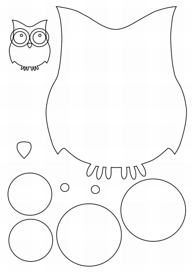 desenho de coruja bolas
