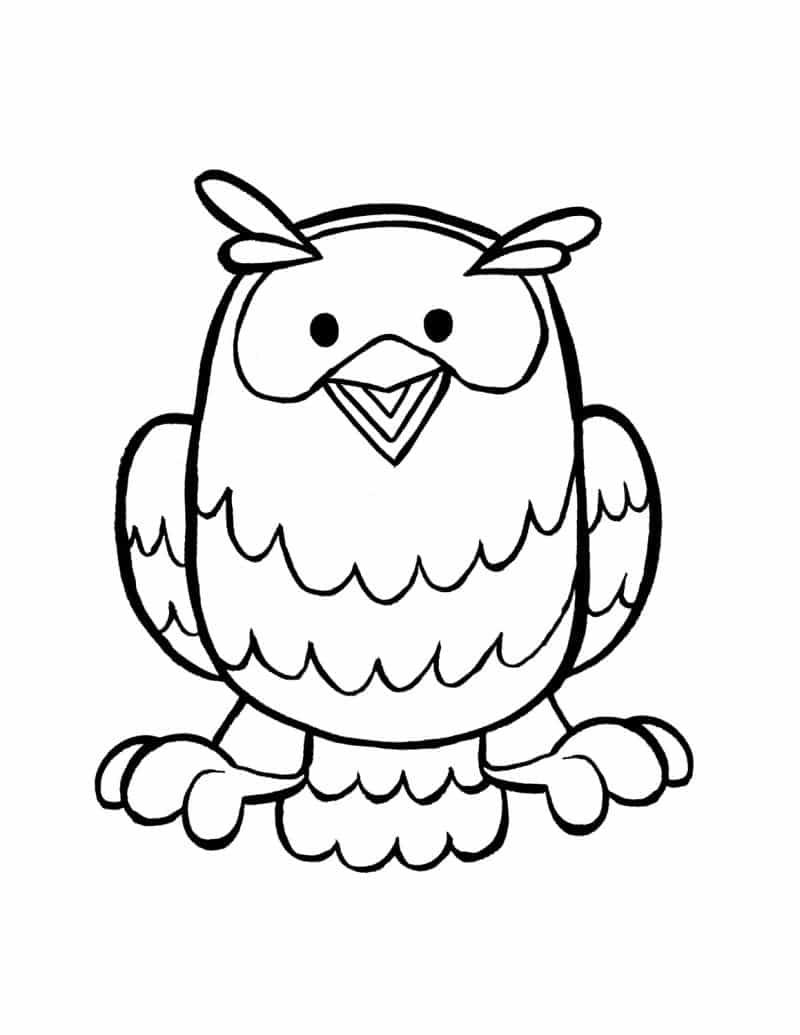 desenho de coruja alegre