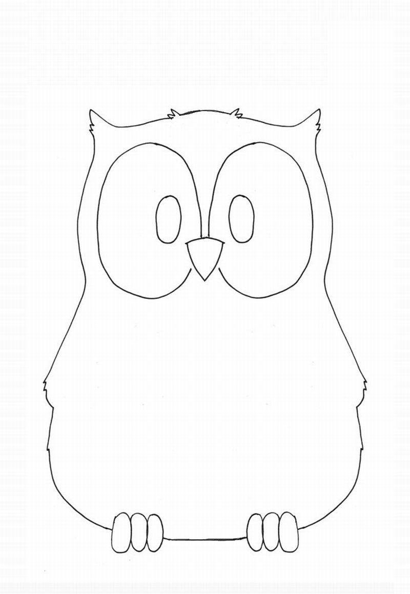 desenho de coruja clean