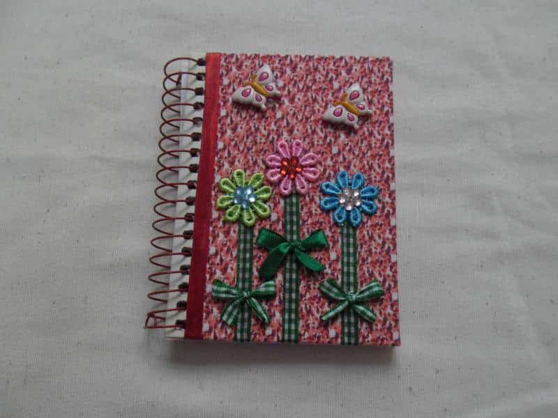 caderno decorado fitinhas