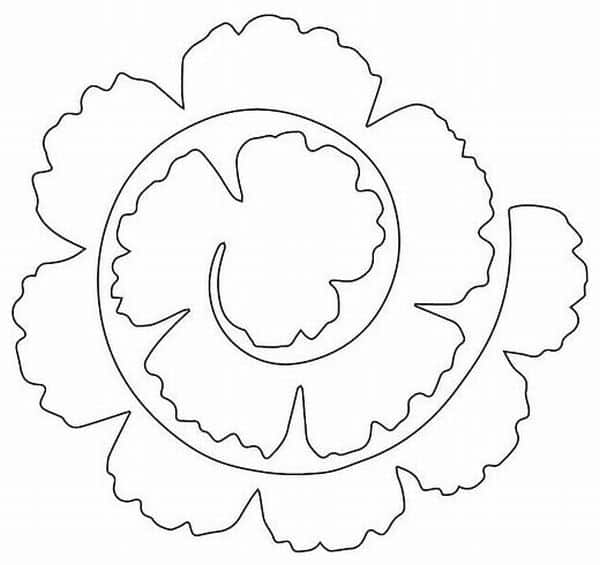moldes flor de papel