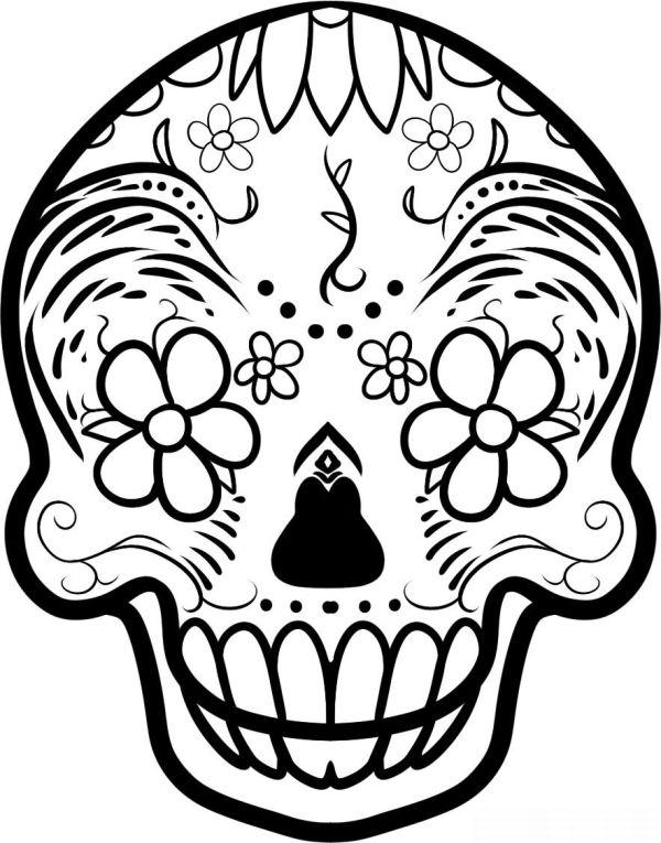 Desenho De Caveira Mexicana 30 Modelos Artesanato Passo A