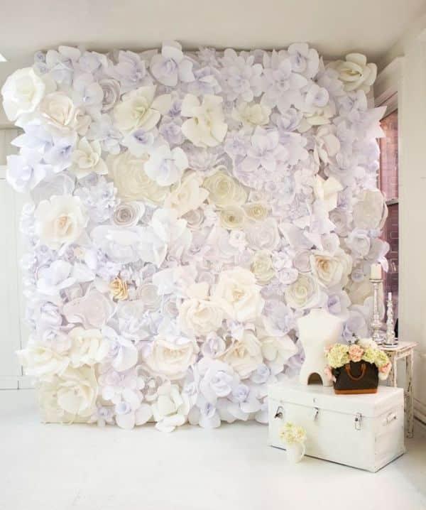 flor de papel parede
